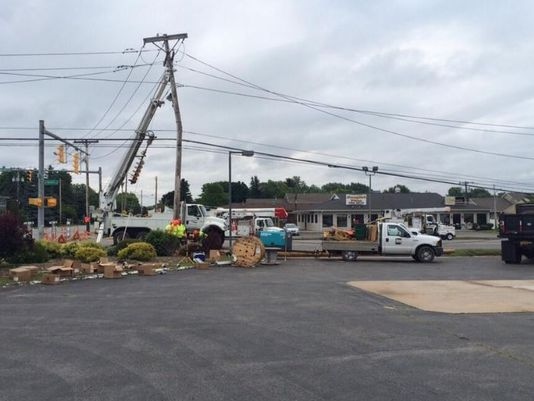 Power Lines Whip Into Oncoming Traffic During Greece, NY Storm
