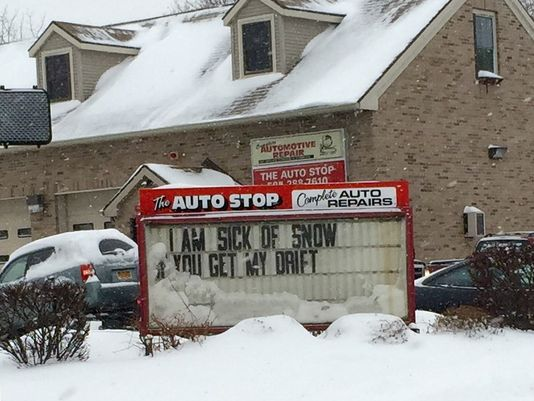 Auto Repair Shop's Sign Perfectly Exemplifies Rochester Winters