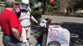 RIT Alum Goes Viral With #501MileWalk To Comic-Con Dressed As Storm Trooper