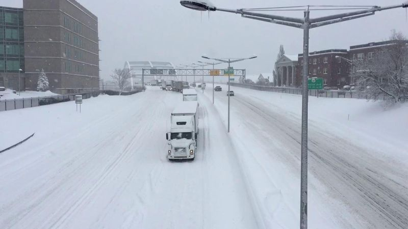 I-490 Shut Down on Tuesday During One of the Worst Snowstorms in Rochester History